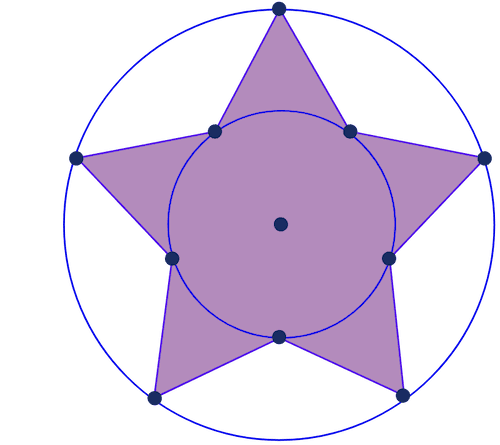 Star with inner and outer radius