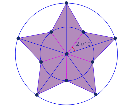 Star with inner points angle
